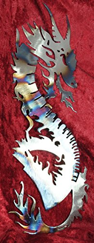 Dragon Snake, Metal Wall Art , Fantasy, Asian Art, Dragon