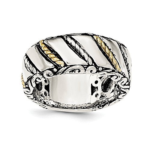 925 Sterling Silver Gold Tone Womens Band Ring Size 6.00 Fine Jewelry Gifts For Women For Her
