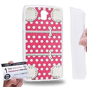 Case88 [Samsung Galaxy Note 3 Neo N750 N7505] Gel TPU Carcasa/Funda & Tarjeta de garantía - Art Fashion Rose Dot Luggage