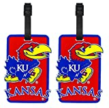 Kansas Jayhawks - NCAA Soft Luggage Bag Tag - Set of 2
