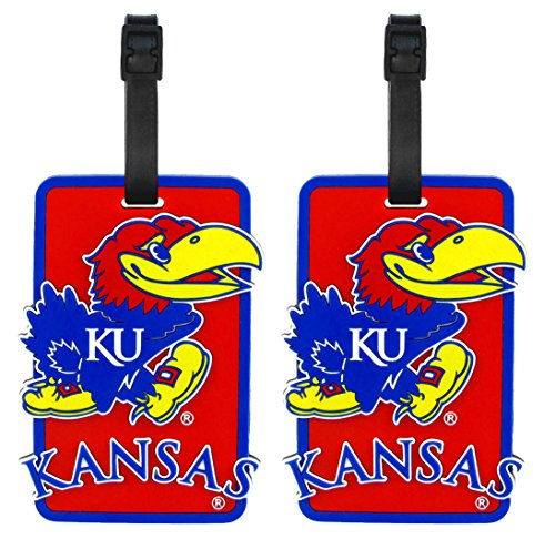 Kansas Jayhawks - NCAA Soft Luggage Bag Tag - Set of 2 by NCAA