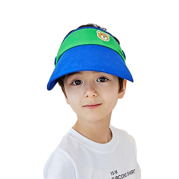 Zerlar Foldable Sun Visor Hat Wide Brim Cap For Children Boys Girls (Bule) fbdfd1df670