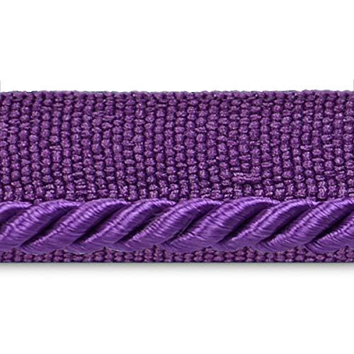 Ebony 1/8in Twisted Lip Cord Trim Purple