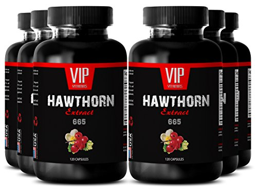 Metabolism vitamins - HAWTHORN EXTRACT 665 - Metabolism booster for weight loss - 6 Bottles 720 Capsules