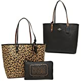 Coach 24209 Reversible City Tote PVC handbag Wild Heart Print PVC Natural