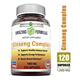 Best Ginsengs - Amazing Formulas Ginseng Complex 1000mg 120 Capsules Review