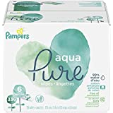 Pampers Aqua Pure 6X Pop-Top Sensitive Water Baby Wipes, 336 Count
