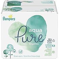 Pampers Aqua Pure 6x Pop-top sensible agua toallitas para bebé, 336unidades