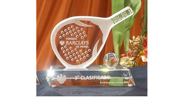 Trofeo Cristal Pádel Personalizado: Amazon.es: Deportes y aire libre