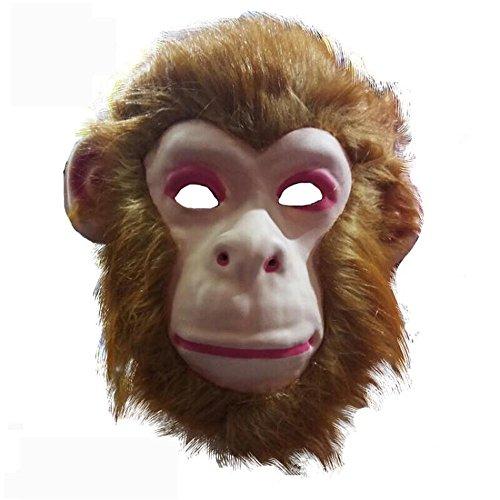 Mardi Gras Party Masquerade Mask,Animal mask Lion Tiger Wolf Orangutan Monkey Leopard Child Toy Monkey Prom Masks