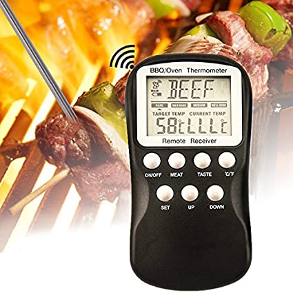 [Envio Gratis] Control remoto inalámbrico para barbacoa carne termómetro barbacoa cocina Digital Alimentos Termómetro