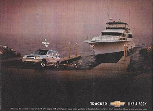 MAGAZINE AD For Chevrolet Tracker 2001 It Thinks Big Yacht Ocean Scene