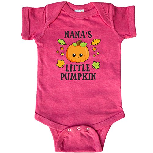 inktastic - Nanas Little Pumpkin Infant Creeper Newborn Retro Heather Pink 2bca8 (Nana Little Star Snap)