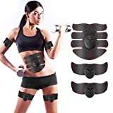CHARMINER Muscle Toner, Abs Trainer, Abdominal Toning Belts, Wireless Body Gym Workout Fitness Equipment For Abdomen/Arm/Leg Training Men & Women