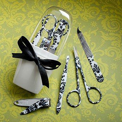 Manicure Set Wedding Favors - Useful Wedding Favors: Damask Manicure Sets, 18 by Fashioncraft