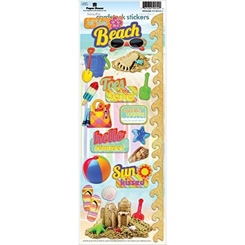 Paper House Productions STCX-0163E Cardstock Stickers, Fun Beach 2 (Vacations Cardstock Stickers)