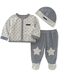 Baby Boys' Footed Pant Set