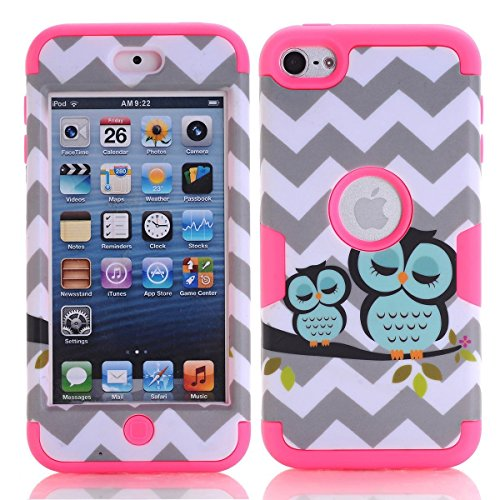 iPod Touch 6 Case , iPod Touch 5 Case, Alkax Slim Fit Heavy Duty Rugged Impact Resistant Protective Cover Bumper for Apple iPod Touch 5 6th Generation + Stylus Pen
