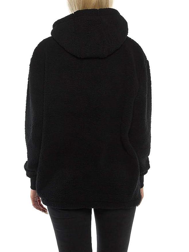 9b95741d55678 ellesse Grattini Oh Sweats À Capuche Femme Noir  Amazon.fr  Vêtements et  accessoires
