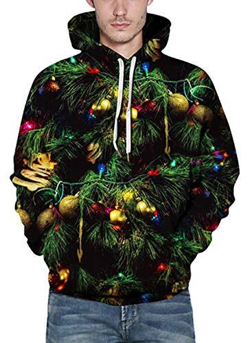 Wieayumei Sweatshirt Colour Jumper Reindeer Boys Santa Tops Christmas For Xmas Womens Pullover 3d Unisex 28 Patterned Jackets Print Girls Printed Men Hoodies Hoody grgHnq1