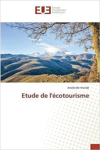 Livres gratuits en ligne Etude de l'écotourisme pdf ebook