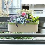 Cheap Hot Sale Z1217 Metal Cream White Home Garden Gifts/Oval Hanging Flowerpot/Planter/Garden Pot With Shelf