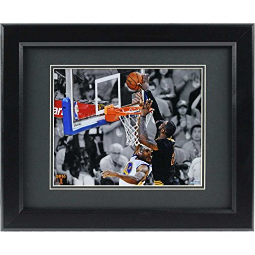 2016 NBA Champion Cleveland Cavaliers Lebron James Block Framed Photo Framed Memorabilia 10 x 8in