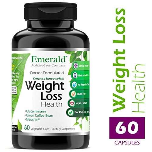 Emerald Laboratories - Weight Loss Health - with Green Coffee Bean Extract, Meratrim, and Konjac Root - Helps Reduce Body Fat, Increase Metabolism, Control Appetite - 60 Vegetable Capsules