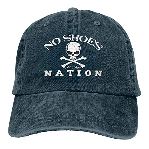 Unisex Adults Vintage Washed Baseball Cap Adjustable Dad Hat - No Shoes Nation Navy from Gupmaster