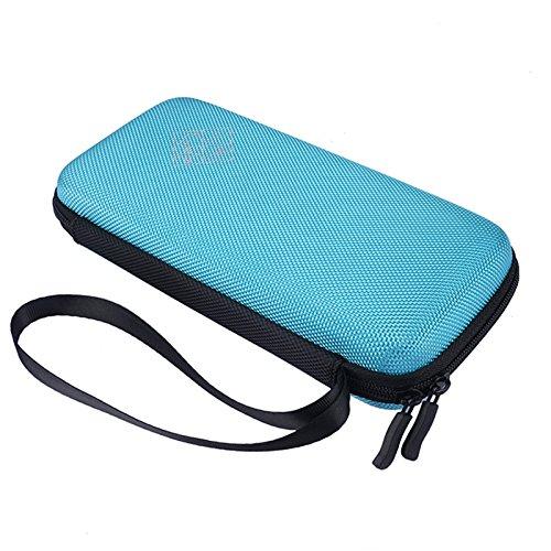 Xberstar Hard EVA Shockproof Carry Case Bag Pouch for Texas Instruments TI-84 Plus CE/Color TI-83 Plus,TI-89 Titanium, HP 50G Graphing, Scientific Financial Calculators (Blue)