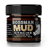 Bossman MUDstache NAKED - NO Color Tint NO Scent Mustache Training Wax