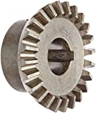 "Boston Gear HL148Y-G Bevel Gear, 2:1 Ratio, 0.500"" Bore, 16 Pitch, 24 Teeth, 20 Degree Pressure Angle, Straight Bevel, Keyway, Steel with Case-Hardened Teeth"