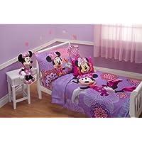 Disney - Juego de ropa de cama para niños pequeños Fluttery Friends de Disney, de 4 piezas, lavanda