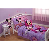 Disney 4 Piece Minnie's Fluttery Friends Toddler Bedding Set