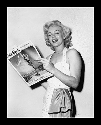8 x 10 TODOS LOS madera foto enmarcada Marilyn Monroe lectura papel ...