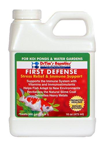 16 Ounce Koi - DrTim's Aquatics First Defense Aquarium Stress Relief & Immune Support, Koi Ponds & Water Gardens 16 oz