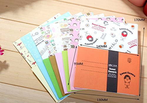 SCStyle 32 Cute Kawaii Lovely Love Design Writing Stationery Paper with 16 Envelope