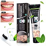 Teeth Whitening Toothpaste , Charcoal toothpaste, Teeth Whitening, charcoal tooth whitening, Activated Charcoal Black Toothpaste whitening - Fresh Mint toothpaste - REMOVES BAD BREATH and TOOTH STAINS