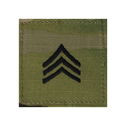 Rank Sergeant Military (US Army OCP Multicam Rank with Fastener - Sergeant)