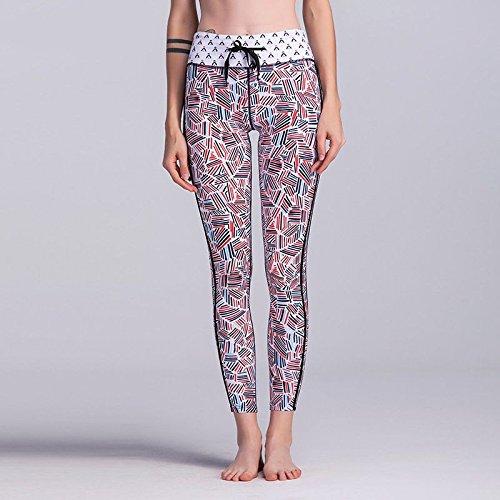 MAYUAN520 Remise en forme des produits haut de gamme Femmes Leggings Leggins Leggings Entraînement taille haute taille moyenne pour les femmes Pantalons multicolore
