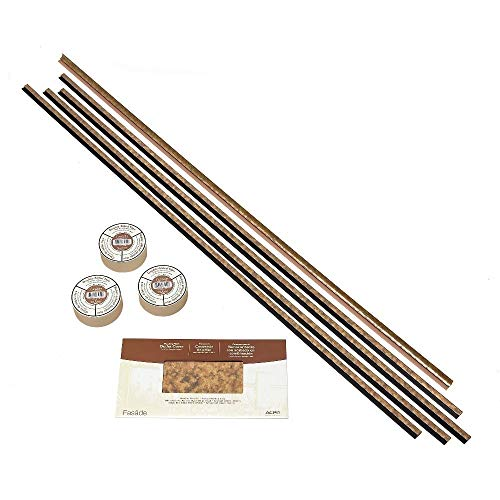 Accessory Backsplash - Fasade Backsplash Accessory Kit Large Profile with Tape Cracked Copper