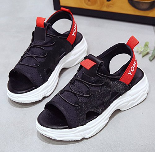 Walking Outdoor Femaroly Black Soled for Sports Casual Sandals Thick Women Shoe PnfBnU7