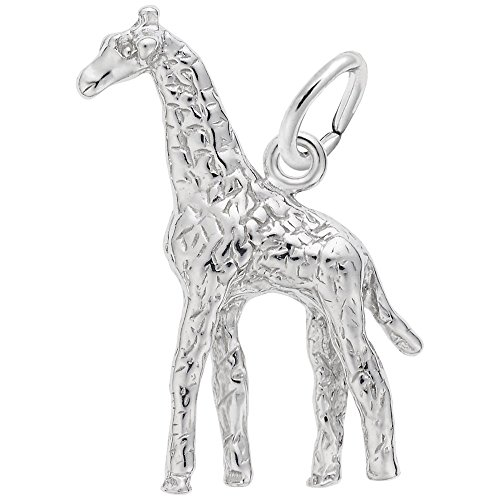 Giraffe Charm In Sterling Silver, Charms for Bracelets