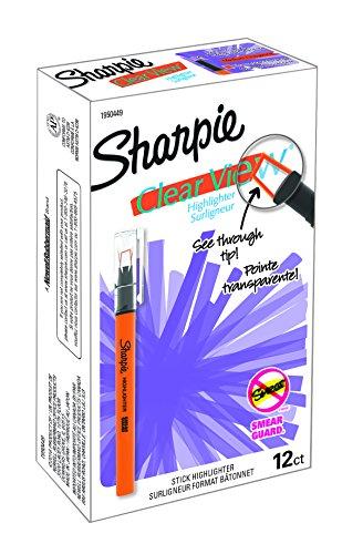 Sharpie Clear View Highlighter Stick, Orange, Box of 12 (1950449)