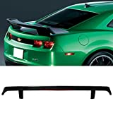 2010 camaro ss spoiler - Trunk Spoiler With LED 3rd Brake Light Fits 2010-2013 Chevy Camaro | GM Style Unpainted ABS Car Exterior Rear Spoiler Rear Wing Tail Roof Top Lid by IKON MOTORSPORTS | 2011 2012