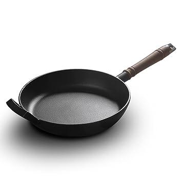 LLW-Frying Pans Sartenes para Sartenes para El Hogar Sartén De Hierro En Barril Sartén Antiadherente Física Hierro Fundido Panqueque Panqueque Universal ...