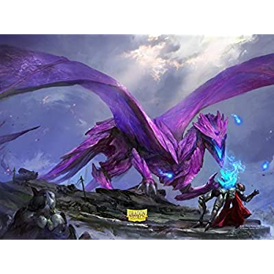 Sleeves: Dragon Shield Matte Purple NonGlare (100), (Model: AT-11809): Toys & Games