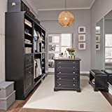 Home Styles 5531-7512 Bedford 5 Pc Closet Organizer, Black Finish