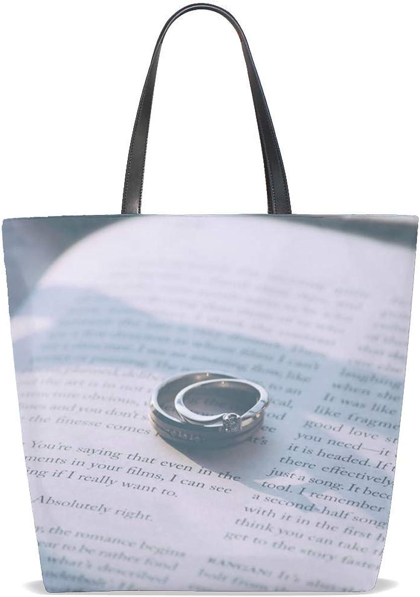 Rings Engagement Rings Book Tote Bag Purse Handbag For Women Girls