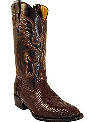Ferrini Mens Genuine Lizard R-Toe Western Boot